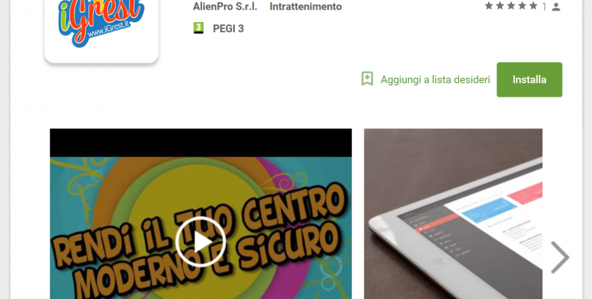 iGrest sbarca su Android Play Store