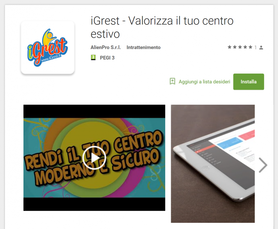iGrest per Android - playstore app e1547749144420