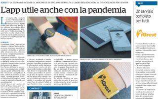 L'app utile anche con la pandemia - iGrest su La Repubblica